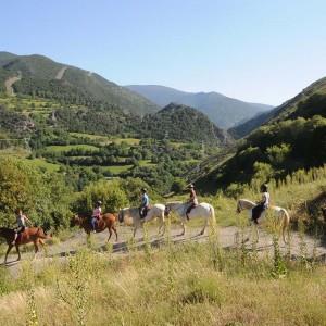 Paseo a caballo en Llavorsí (Lleida)