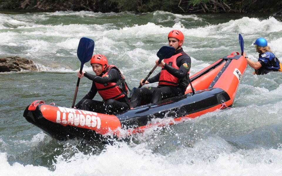 Canoes de riu: descens per la Noguera Pallaresa