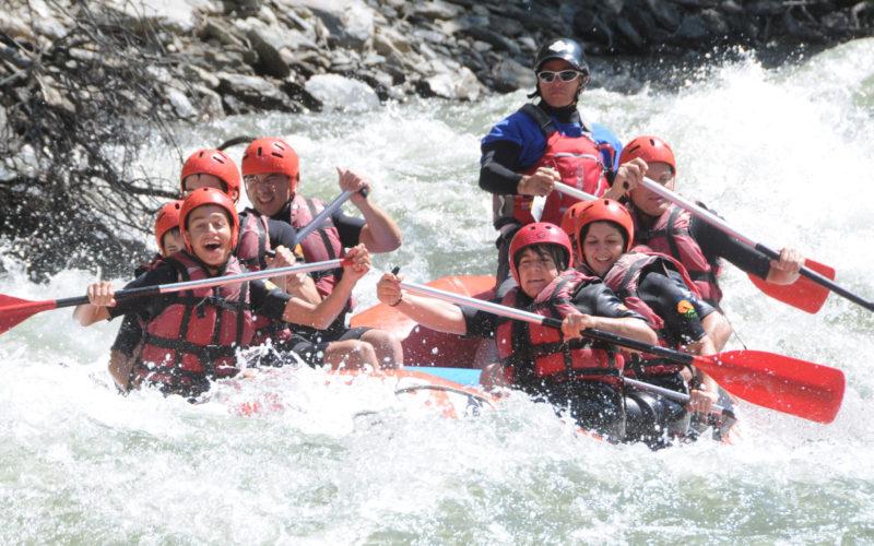 Actividades acuáticas: rafting