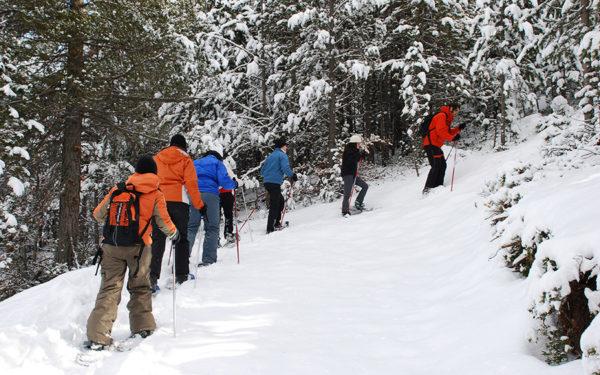 Alta Ruta Aventura ofrece excursiones con raquetas de nieve