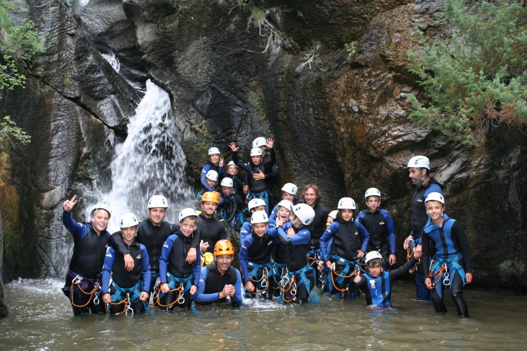 Actividades de aventura para esplais y scouts: descenso de barrancos