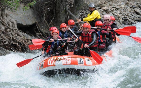 Descenso de rafting en el río Noguera Pallaresa